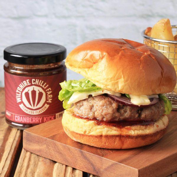 Wiltshire Chilli Farm - Cranberry Kick - Pork Burger