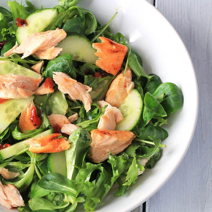 Wiltshire Chilli Farm - Salmon salad