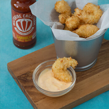 Wiltshire Chilli Farm - Coconut prawns and a Caribbean dipping sauce