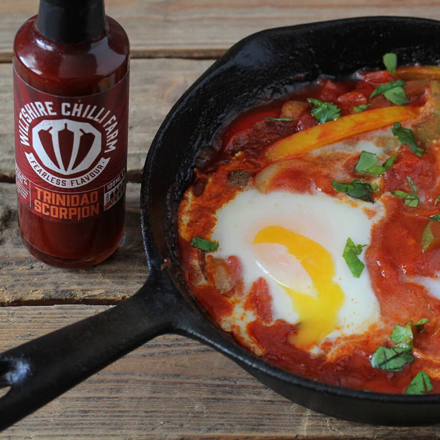 Wiltshire Chilli Farm - Trinidad Scorpion Baked Eggs